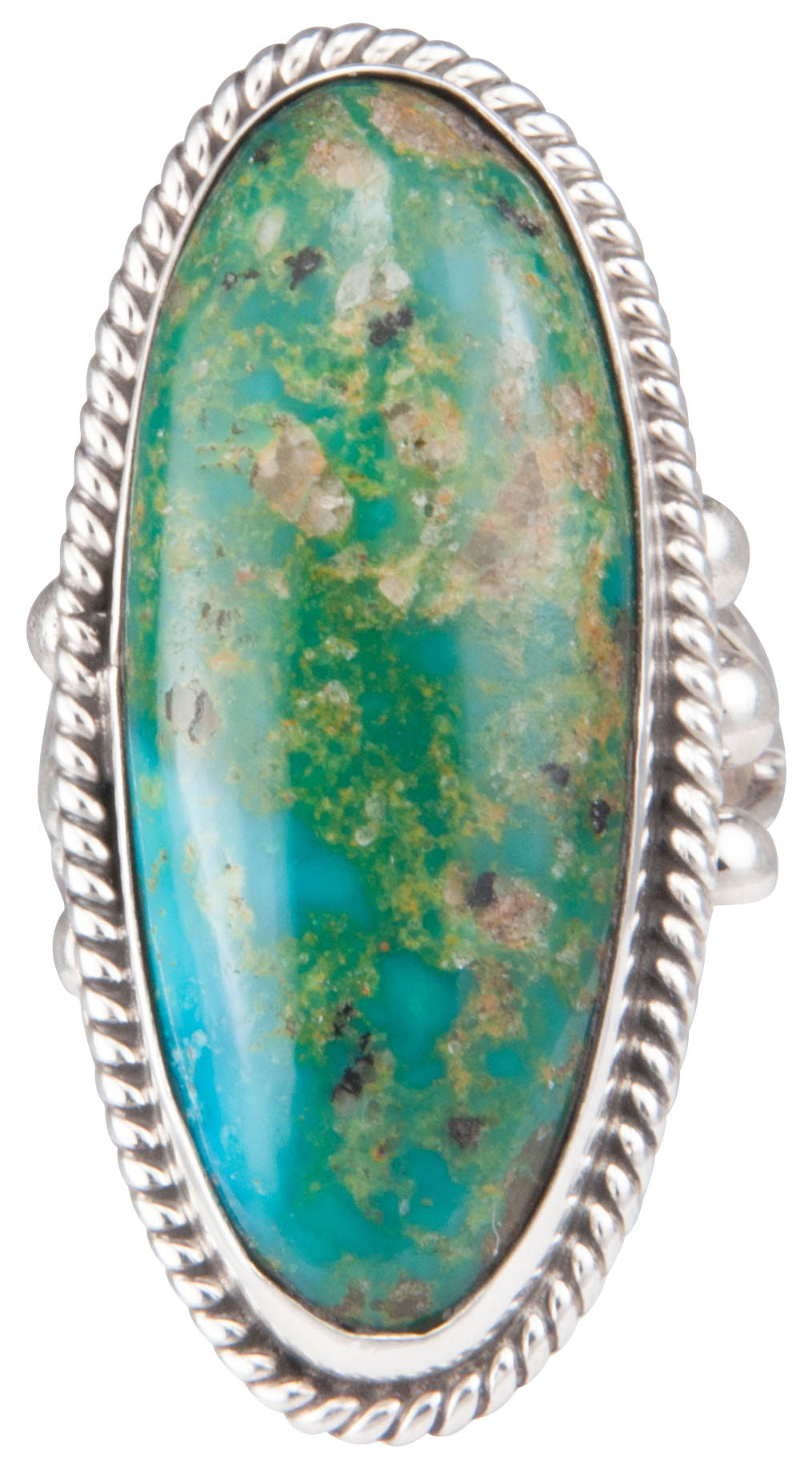 Navajo Native American Turquoise Mountain Ring Size 7 1/2 by Jim SKU229932