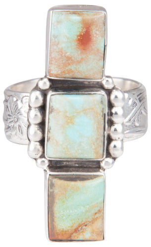 Navajo Native American Kingman Turquoise Ring Size 8 by Willeto SKU229936