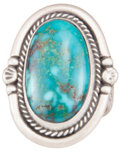 Load image into Gallery viewer, Navajo Native American Kingman Turquoise Ring Size 8 1/2 by Willeto SKU229938