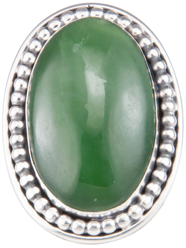 Navajo Native American Alaskan Jade Ring Size 9 by Martha Willeto SKU229942