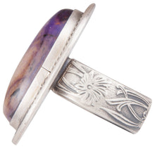 Load image into Gallery viewer, Navajo Native American Sugilite Ring Size 7 by Martha Willeto SKU229943
