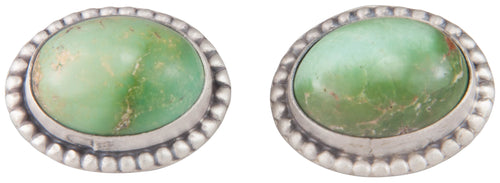 Navajo Native American Green Kingman Turquoise Cuff Links by Willeto SKU229946
