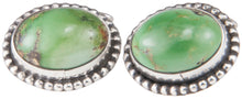 Load image into Gallery viewer, Navajo Native American Green Kingman Turquoise Cuff Links by Willeto SKU229947