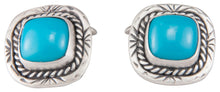 Load image into Gallery viewer, Navajo Native American Sleeping Beauty Turquoise Cuff Links SKU229949