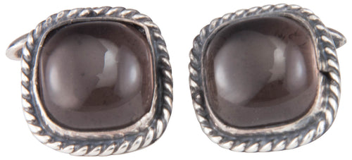 Navajo Native American Smokey Quartz Cuff Links by Martha Willeto SKU229951