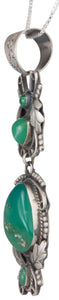 Navajo Native American Chrysoprase Pendant Necklace by Willeto SKU229998
