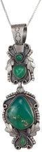 Load image into Gallery viewer, Navajo Native American Chrysoprase Pendant Necklace by Willeto SKU229998