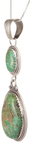 Navajo Native American Lander County Variscite Pendant Necklace SKU230003