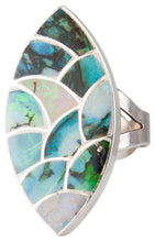 Load image into Gallery viewer, Zuni Native American Silver Opal Ring  Size 5 3/7 SKU230153