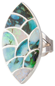 Zuni Native American Silver Opal Ring  Size 5 3/7 SKU230153
