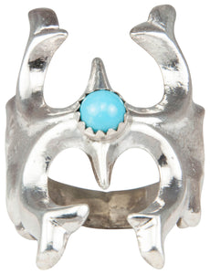 Navajo Native American Sleeping Beauty Turquoise Ring Size 6 1/2 SKU230182