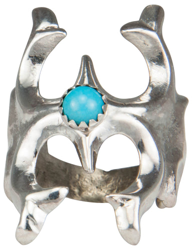 Navajo Native American Sleeping Beauty Turquoise Ring Size 5 3/4 SKU230184
