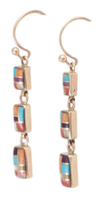 Load image into Gallery viewer, Navajo Native American Sleeping Beauty Turquoise 14k Gold Earrings SKU230199