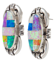 Load image into Gallery viewer, Zuni Native American Created Opal Inlay Post Earrings SKU230232