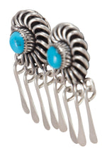 Load image into Gallery viewer, Zuni Native American Sleeping Beauty Turquoise Earrings by Lementino SKU230256