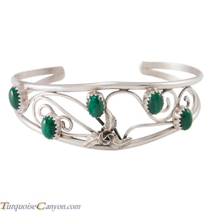 Navajo Native American Malachite and Sterling Silver Bracelet SKU230289