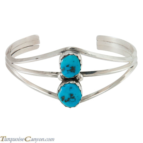 Navajo Native American Handcrafted Kingman Mine Turquoise Bracelet SKU230299