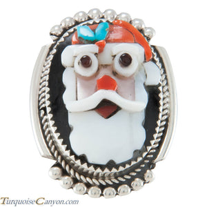 Zuni Native American Santa Claus Pin Pendant by Bev Etsate SKU230311