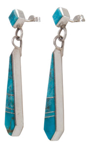Navajo Native American Kingman Turquoise Earrings by Yazzie SKU230359