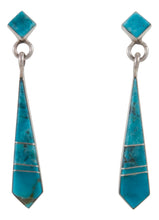Load image into Gallery viewer, Navajo Native American Kingman Turquoise Earrings by Yazzie SKU230359