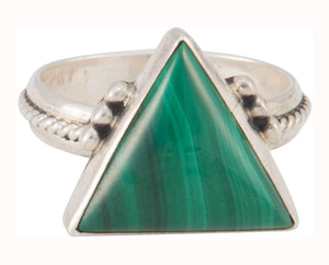 Navajo Native American Malachite Ring Size 8 by Eddie Tsosie SKU230373