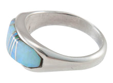 Load image into Gallery viewer, Navajo Native American Created Opal Inlay Ring Size 7 3/4 by B Joe SKU230441