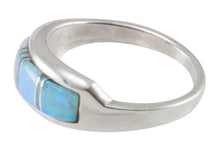 Load image into Gallery viewer, Navajo Native American Created Opal Inlay Ring Size 10 by B Joe SKU230442