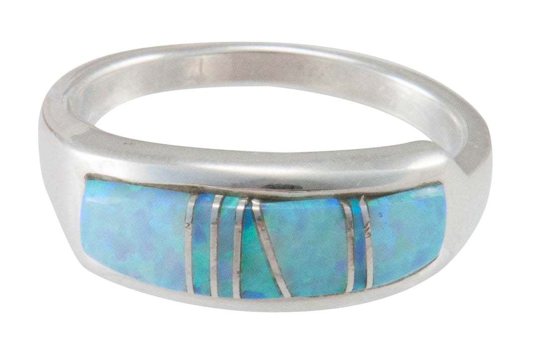 Navajo Native American Created Opal Inlay Ring Size 10 by B Joe SKU230442