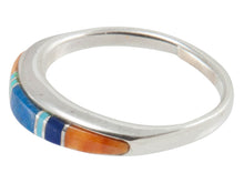 Load image into Gallery viewer, Navajo Native American Turquoise Inlay Ring Size 6 3/4 by B Joe SKU230455