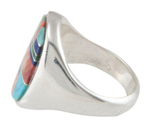 Load image into Gallery viewer, Navajo Native American Turquoise Inlay Ring Size 9 1/2 by B Joe SKU230478