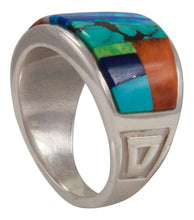 Load image into Gallery viewer, Navajo Native American Turquoise Inlay Ring Size 9 1/2 by Robertson SKU230479