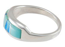 Load image into Gallery viewer, Navajo Native American Turquoise Inlay Ring Size 10 by C Henry SKU230482