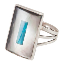 Load image into Gallery viewer, Zuni Native American Turquoise and Shell Ring Size 8 1/2 by Coonsis SKU230505