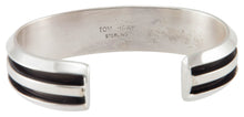 Load image into Gallery viewer, Navajo Native American Sterling Silver Bracelet by Tom Hawk SKU230510