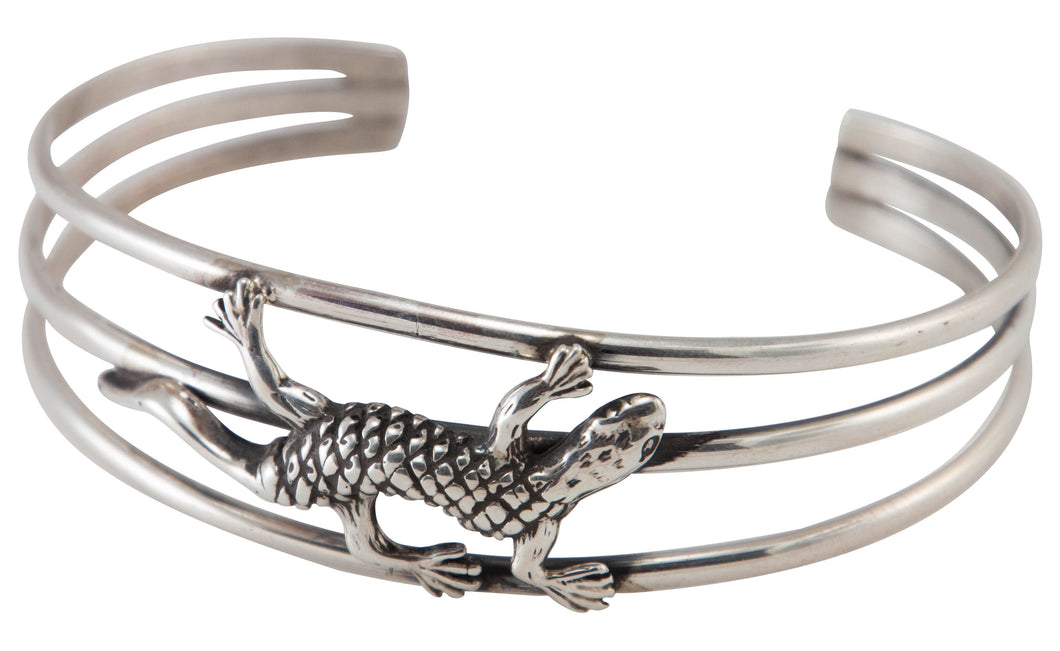 Navajo Native American Gecko Sterling Silver Bracelet by Thompson SKU230517