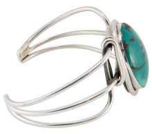 Load image into Gallery viewer, Navajo Native American Hubei Turquoise Bracelet by Harold Tahe SKU230525