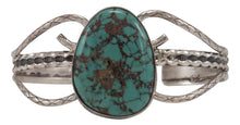 Load image into Gallery viewer, Navajo Native American Cripple Creek Turquoise Bracelet by Yazzie SKU230531