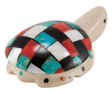 Load image into Gallery viewer, Zuni Native American Turquoise Inlay Turtle Fetish by Cheryl Beyuka SKU230555