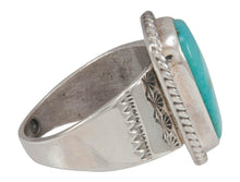 Load image into Gallery viewer, Navajo Native American Castle Dome Turquoise Ring Size 10 1/2 SKU230571