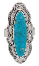 Load image into Gallery viewer, Navajo Native American Kingman Turquoise Ring Size 8 3/4 by Piaso SKU230588