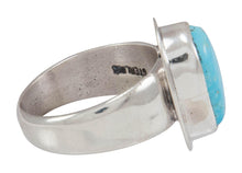 Load image into Gallery viewer, Navajo Native American Kingman Turquoise Ring Size 7 3/4 by Piaso SKU230590