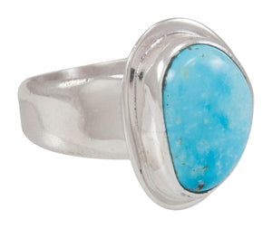 Navajo Native American Kingman Turquoise Ring Size 7 3/4 by Piaso SKU230590