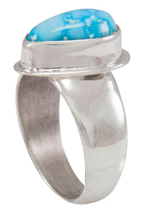 Navajo Native American Kingman Turquoise Ring Size 8 1/2 by Piaso SKU230592