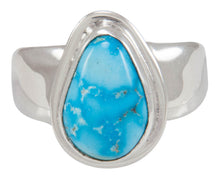 Load image into Gallery viewer, Navajo Native American Kingman Turquoise Ring Size 8 1/2 by Piaso SKU230592
