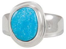 Load image into Gallery viewer, Navajo Native American Kingman Turquoise Ring Size 8 1/4 by Piaso SKU230593