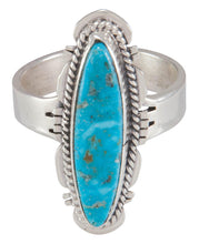 Load image into Gallery viewer, Navajo Native American Kingman Turquoise Ring Size 8 3/4 by Jake SKU230598