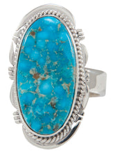 Load image into Gallery viewer, Navajo Native American Kingman Turquoise Ring Size 8 by Sampson Jake SKU230600
