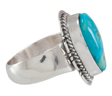 Load image into Gallery viewer, Navajo Native American Candelaria Mine Turquoise Ring Size 6 SKU230604