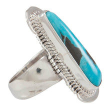 Load image into Gallery viewer, Navajo Native American Candelaria Mine Turquoise Ring Size 5 3/4 SKU230607