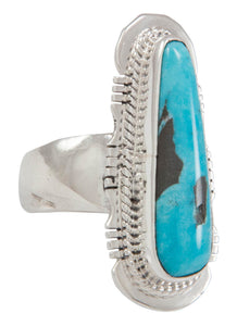 Navajo Native American Candelaria Mine Turquoise Ring Size 5 3/4 SKU230607